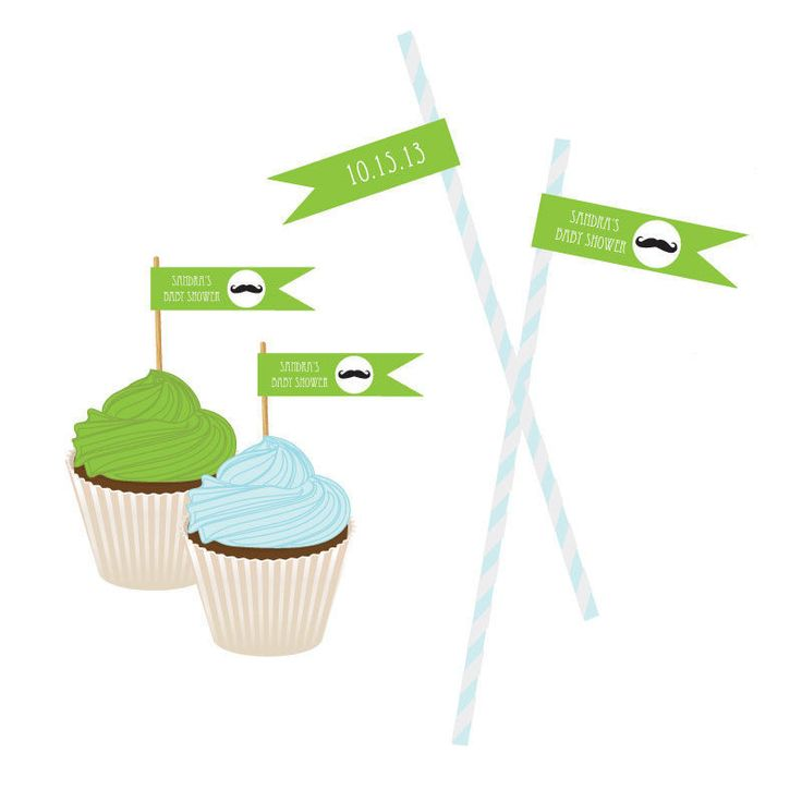 Little Man Party Personalized Flag Labels