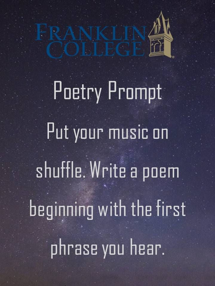 Poem writing prompts