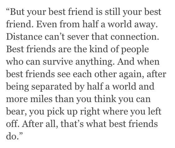 Birthday Quotes For A Friend Miles Away : Best friend quotes distance on deep