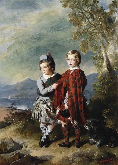 Альберт Эдуард, принц Уэльский, с принцем Альфредом. Франц Ксавьер Винтерхальтер