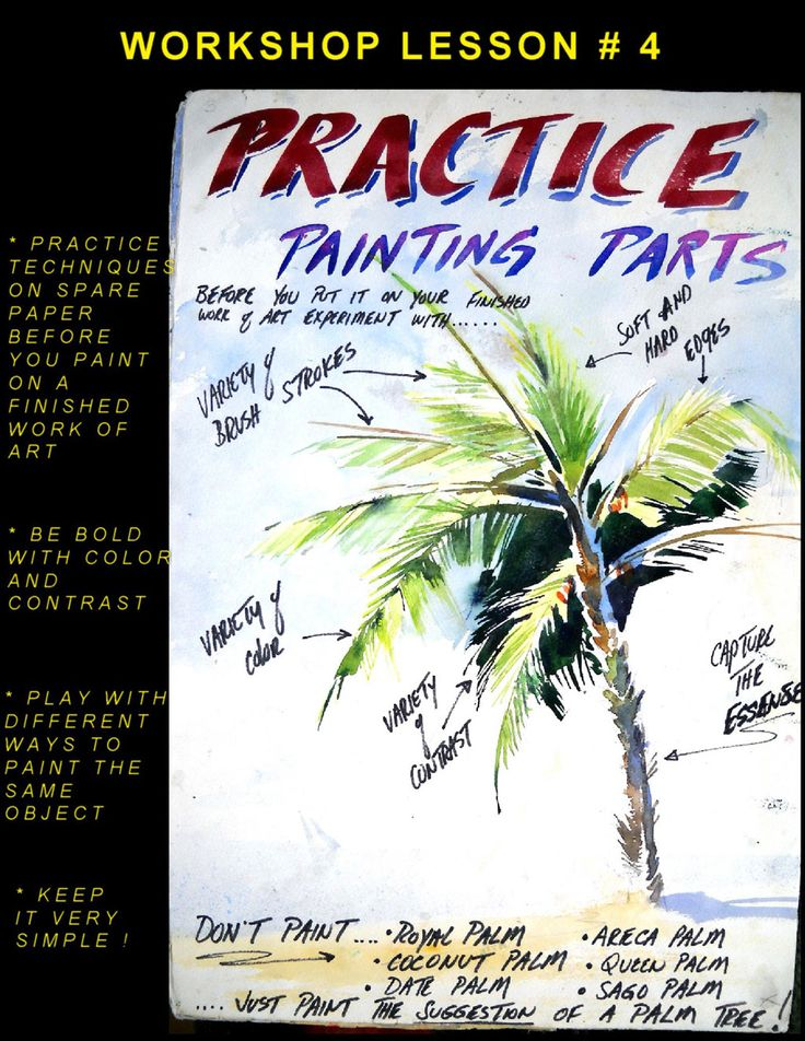 Practice painting parts to paint better watercolour paintings (watercolor)
