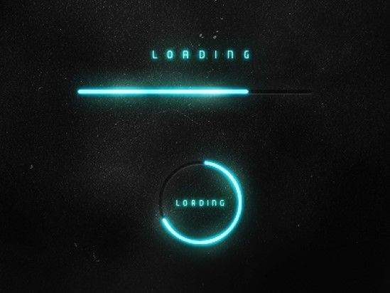 The 75 Inspiring Examples of Beautiful Loading Bar Designs - Futuristic Loading bars by Adis.