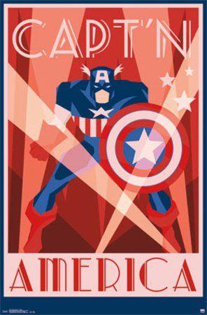 "Captain America Vintage Style Art Deco Poster Print 22.5 X 34"" PosterSuperstars http://smile.amazon.com/dp/B00KH6CGSG/ref=cm_sw_r_pi_dp_NqCZub0MYHC2R"