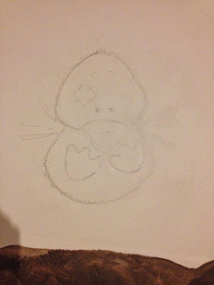 Baby Nursery Mural Blue Nose Friends