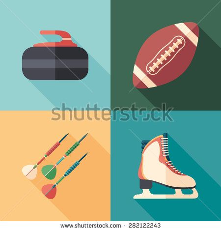 Winter and summer sports flat square icons with long shadows. #sport #sporticons #flaticons #vectoricons #flatdesign