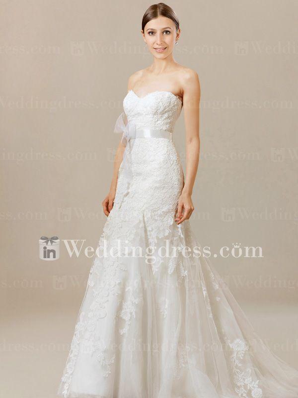 Fit-n-Flare+Unusual+Wedding+Dress+DE068