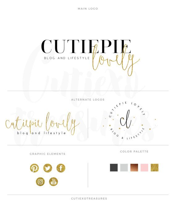branding kit premade logo personal branding by CutiexoTreasures