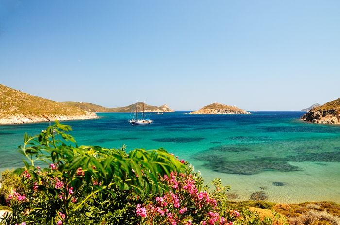 Crystal waters in Patmos island