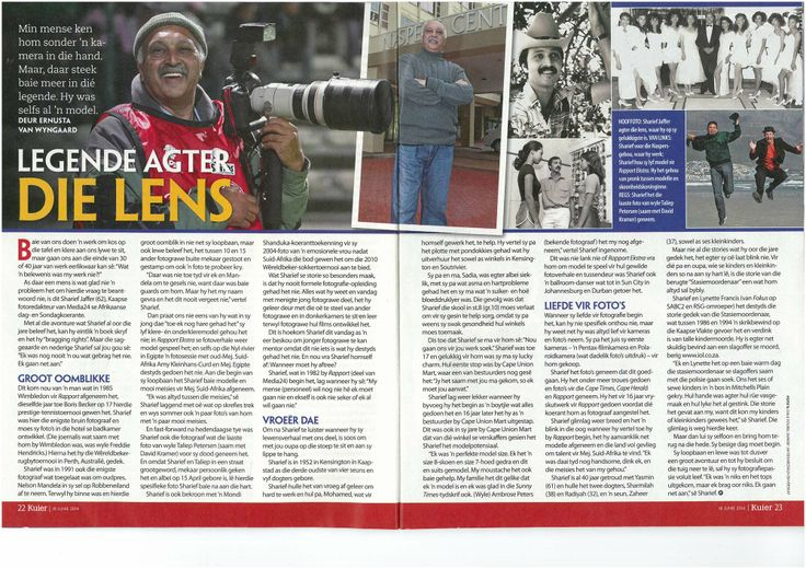 FOTO24 Chief Photographer in Cape Town in the magazine Kuier