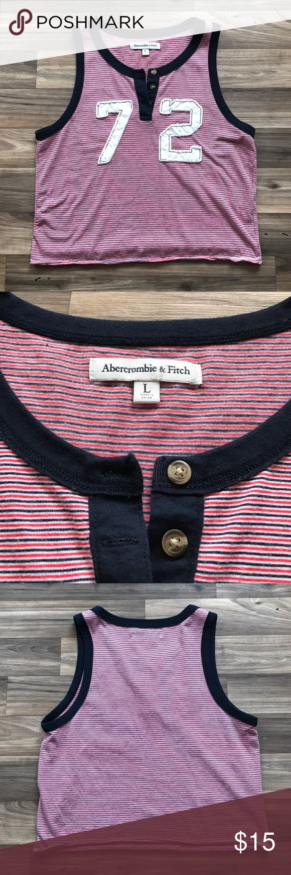 Abercrombie and Fitch cropped tank top SUPER SOFT!! Abercrombie and Fitch crop top size L (I am a size S and wore this as a full length tshirt) Abercrombie & Fitch Tops Crop Tops