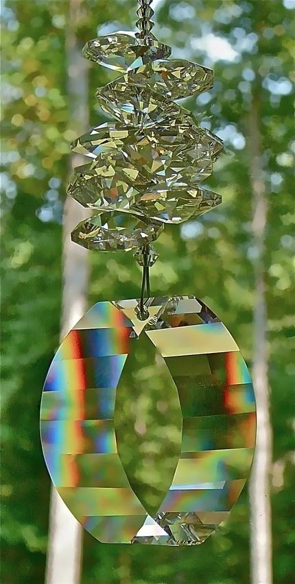 Swarovski, Beautiful Long Rainbows, 38mm Swarovski View Pendant and Swarovski…