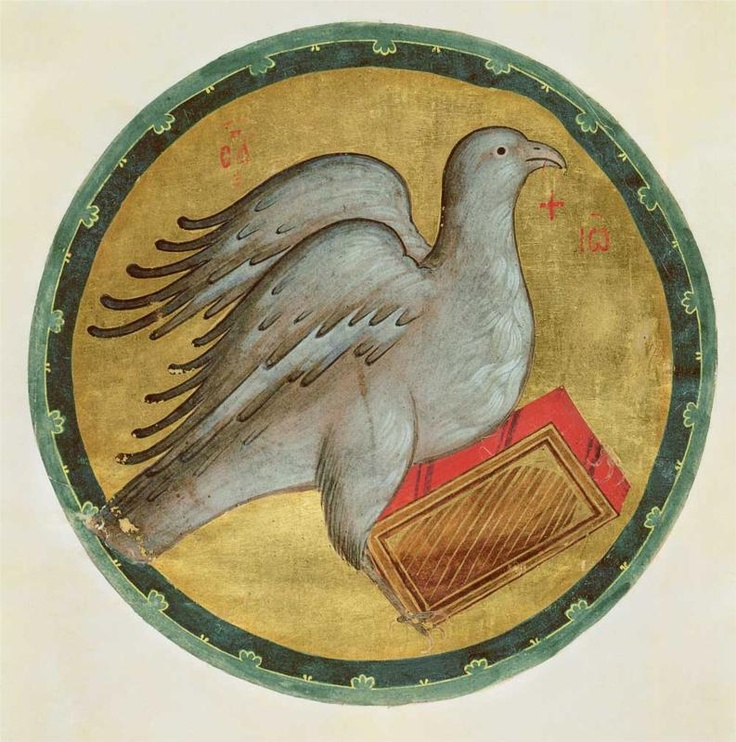 The Eagle of St. John the Evangelist, 1400			Andrei Rublev - by style - Byzantine