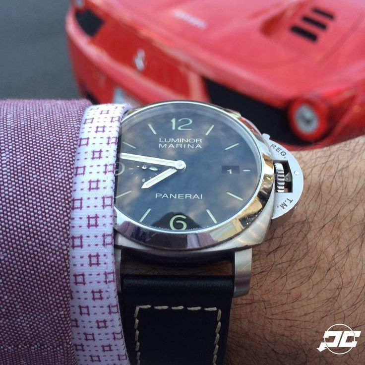 A few weeks ago at the @anilarjandas grand opening in LA . The #Panerai 312 on a OEM MX strap. # Ferrari #PaneraiCentral
