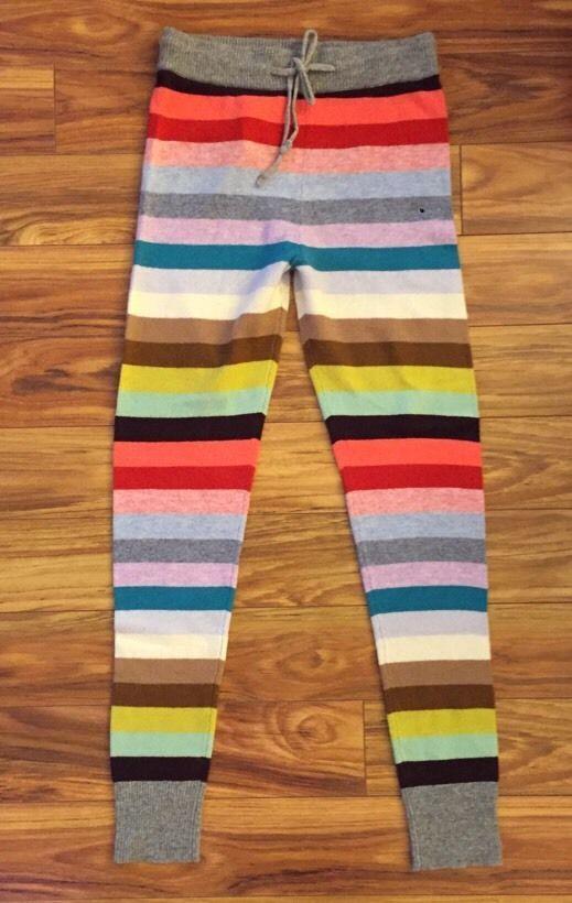 NWT GAP Women's Holiday 2014 Striped Sweater Leggings Size Medium Tall #GAP #Leggings