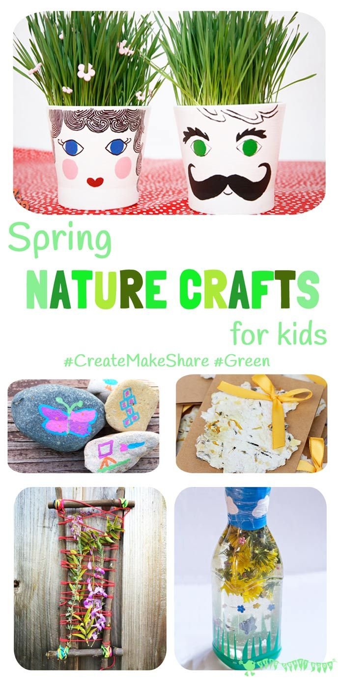 SPRING NATURE CRAFTS FOR KIDS - Shake off the Winter cabin fever and get interacting with Nature outside with these fun and easy ideas.