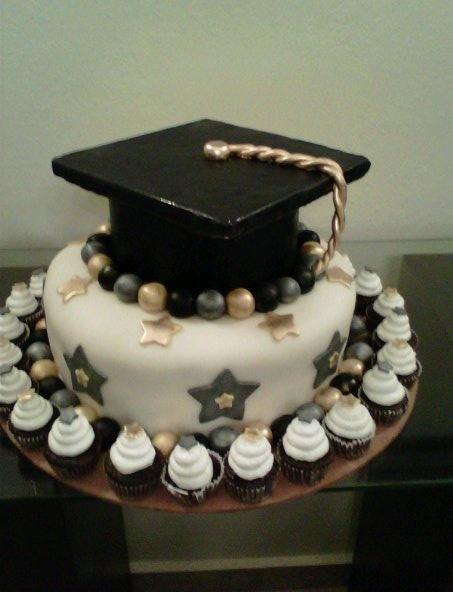 Cupcake Cake Designs For Graduation Milofi Com For