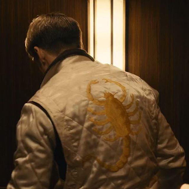 The Scorpion Jacket that Ryan Gosling wears in Drive (2011) #jacket #ryangosling #drive #scorpion #movieitem #movies #movie #films #film