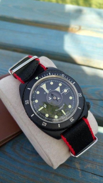 52ce8afc8ee Spada Automatic Diver Vintage Rarytas Black Watches