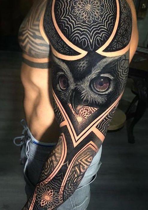 50 der schönsten Eulen-Tattoo-Designs und ihre Be…