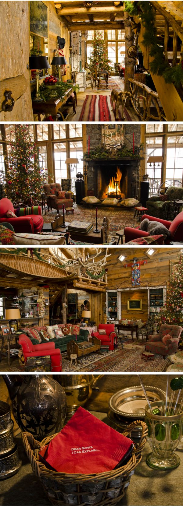 comfy, cozy, holiday decor...I want to grab a thick cable knit and sit by the fire!
