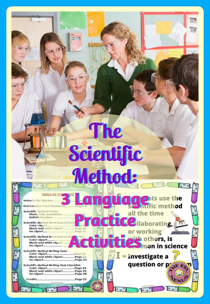 Teach students about the scientific method with these 3 speaking & writing activities. Use the acrostic poem poster about the scientific method to introduce the topic by having students share ideas about the images on the poster, then display it for student reference the rest of the year. A word search activity features 16 vocab words related to the scientific method. A writing task lets students show what they've learned. Answer key & assessment checklist included.