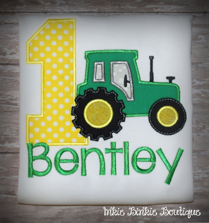 John Deere Tractor (Farmer)  Birthday Tee for Boy's and Girl's! by InkieBinkieBoutique on Etsy https://www.etsy.com/listing/192783084/john-deere-tractor-farmer-birthday-tee