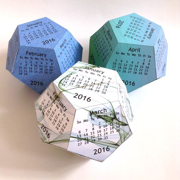diy dodecahedron cube calendar that is a different way of. Black Bedroom Furniture Sets. Home Design Ideas