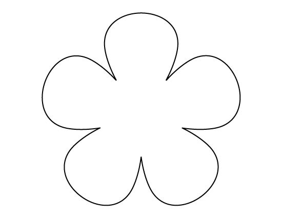 Flower pattern use the printable outline for crafts for Daisy cut out template