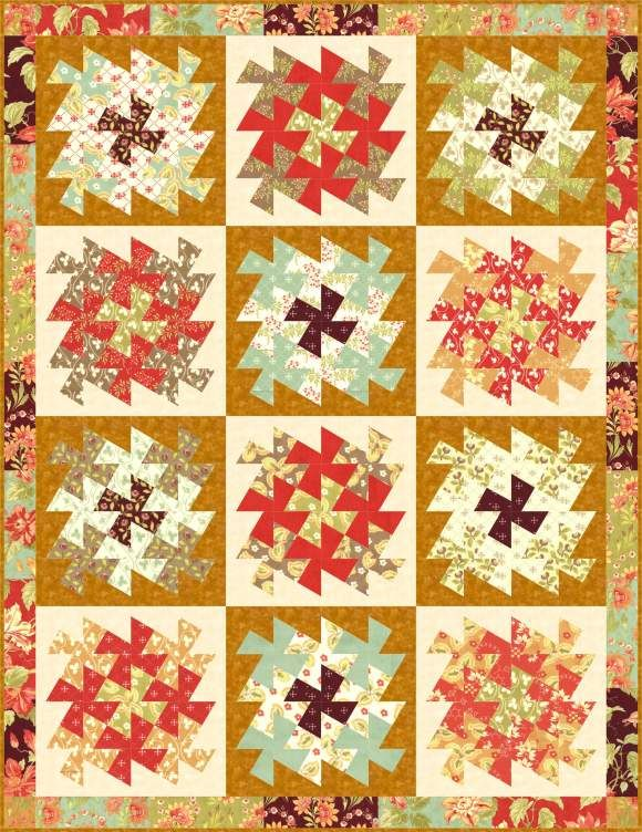 Love the 9 like this, would make it so simple.  Love this by Marilyn Forman of Quilt Moments.  Little quilts to make a bigger quilt - brilliant!