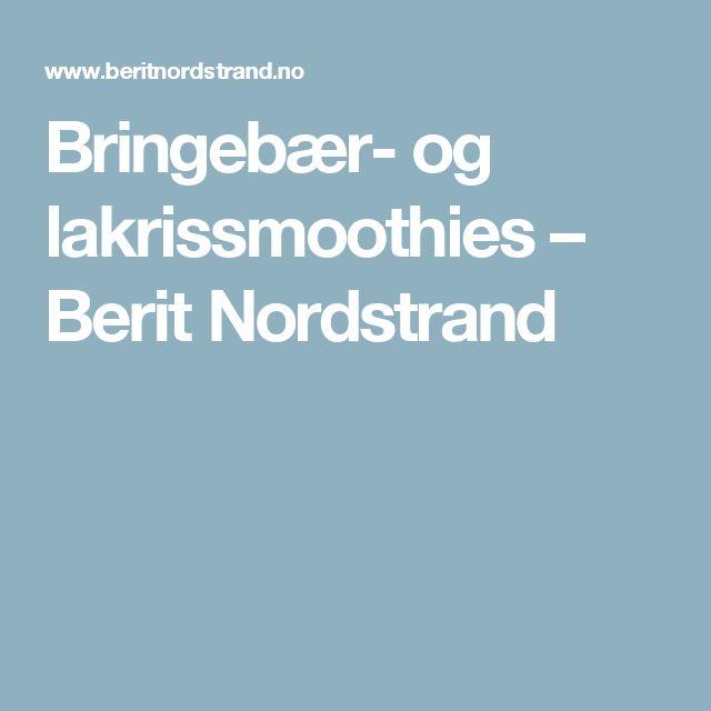 Bringebær- og lakrissmoothies – Berit Nordstrand