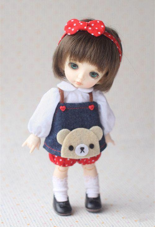 Lovely Rilakkumma doll overalls  for Puki fee Yosd Pullip Blythe Lati yellow