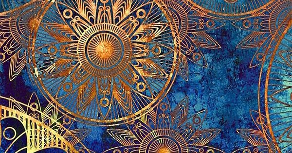 Blue and, Shades of blue and Gold on Pinterest