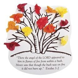 Moses through the miracle of the burning bush  Includes preprinted andMoses Burning Bush Craft