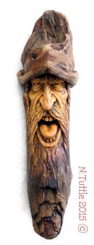 """""""The Nasty""""     7 inches tall and 2 inches across the brim of his hat.  Signed and dated:   N. Tuttle 3/21/15"""