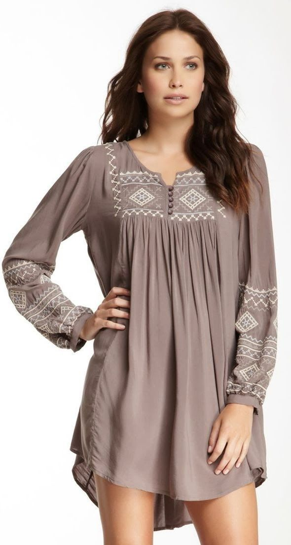 Gorgeous grey long sleeve blouse for women
