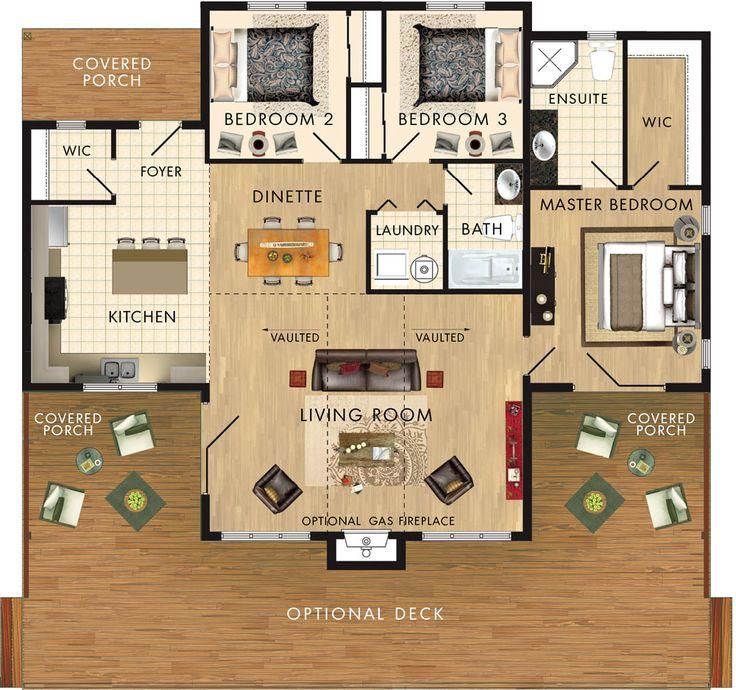 Dorset II Floor Plan 1296 sq ft
