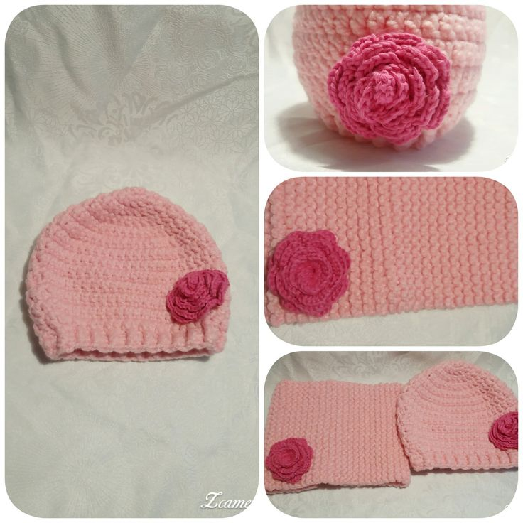 Ensemble Bonnet et Snood en laine épaisse rose : Mode filles par val-la-comtesse17