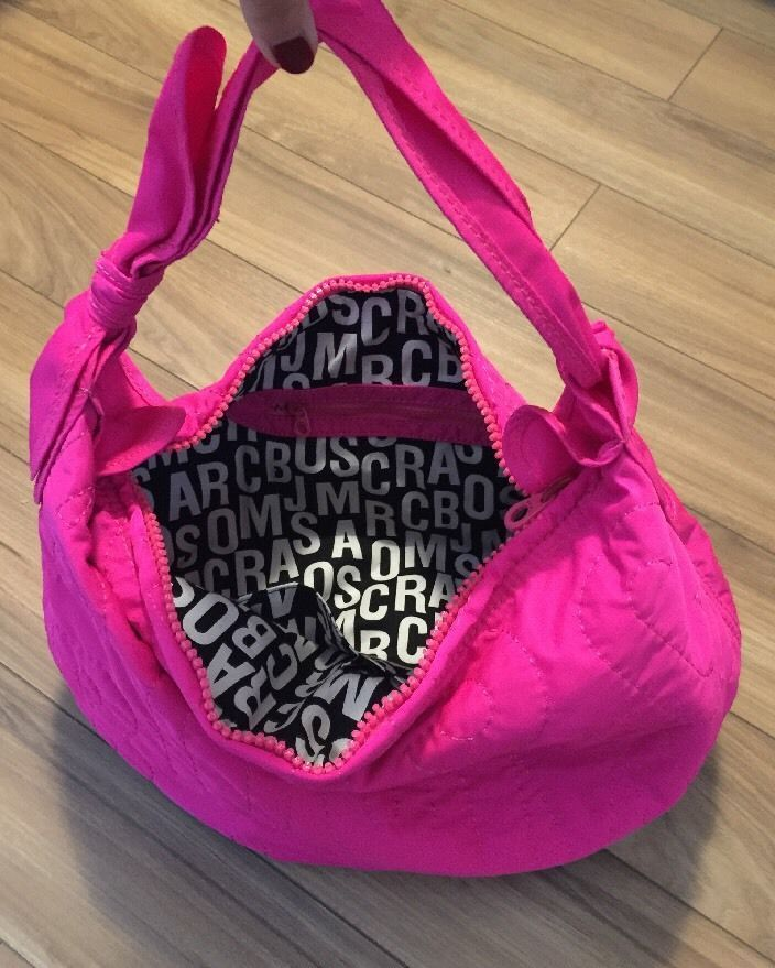 Marc By Marc Jacob Handbag Purse Nylon Hot Pink Fuschia