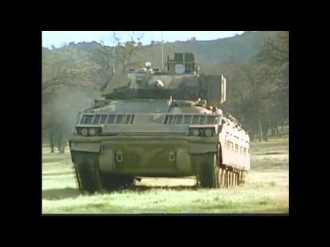 First footage of the M2 Bradley Fighting Vehicle destroying a tank - YouTube