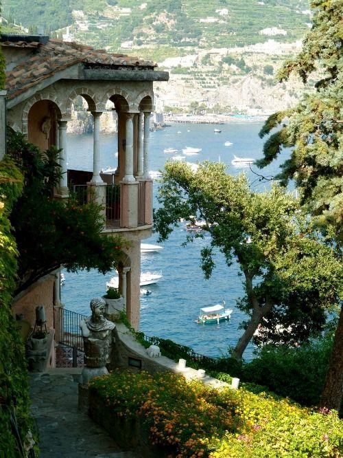 at home on the Amalfi Coast...