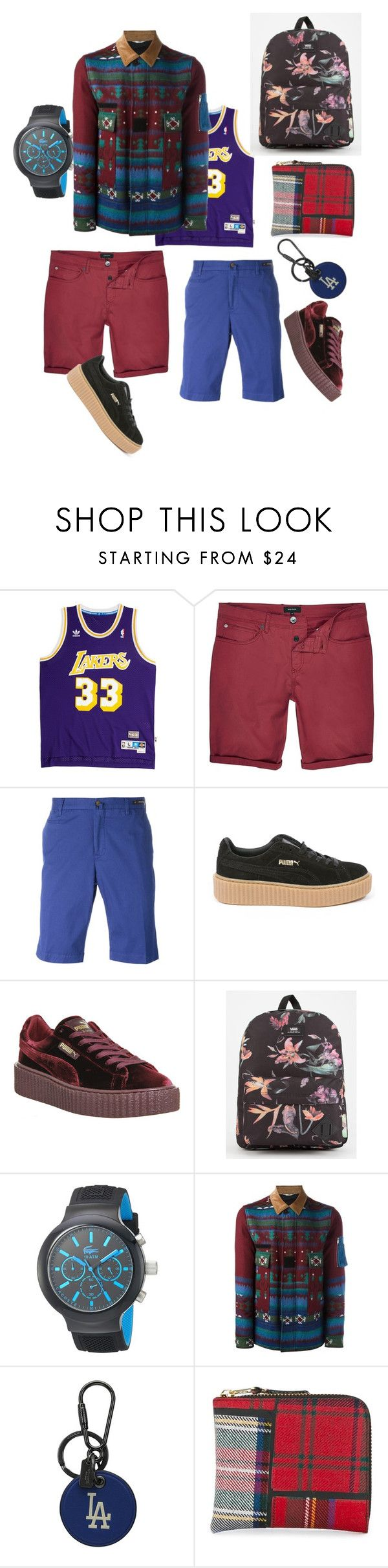 """beach day outfit"" by tommy-el-yhan-pelle on Polyvore featuring Steiner Sports, River Island, PT01 Pantaloni Torino, Puma, Vans, Lacoste, Valentino, Coach, Comme des Garçons and men's fashion"