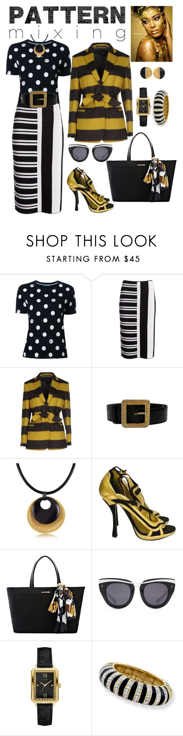 """BLACK, WHITE, & GOLD"" by carolsha ❤ liked on Polyvore featuring Guild Prime, Theory, Mauro Grifoni, Chanel, Stefano Patriarchi, Prada, Love Moschino, HOOK LDN and Kenneth Jay Lane"