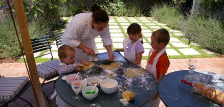 Cookie baking with the Chefs at River Bend Lodge.