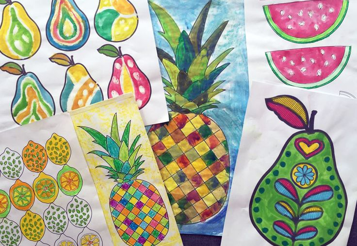 The ImaginationBox: A selection of free fruit pattern templates - pineapples, lemons, pears, watermelons.....