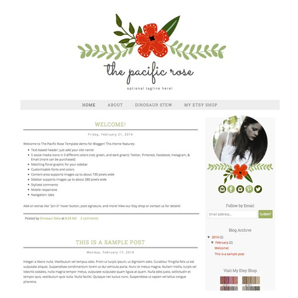 The 144 best ::Cute Blogger Templates :: images on Pinterest ...