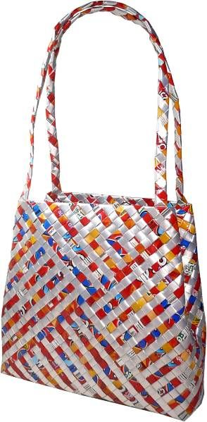Love this recycled bag made from woven juice packs :-)  www.doybags.com £19.99 / $39.99