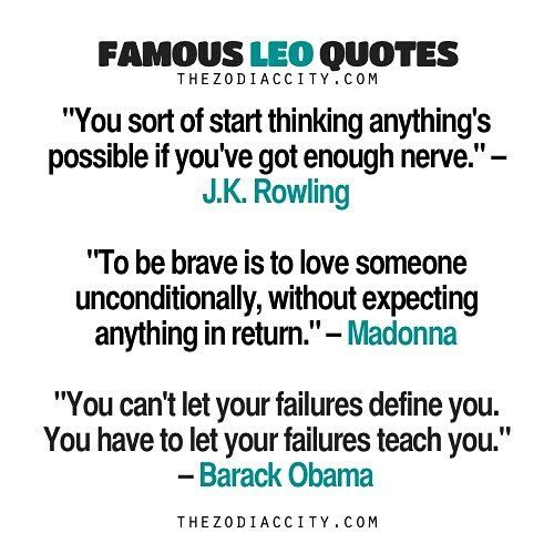 Famous Leos Quotes | TheZodiacCity.com #leo #zodiaccity