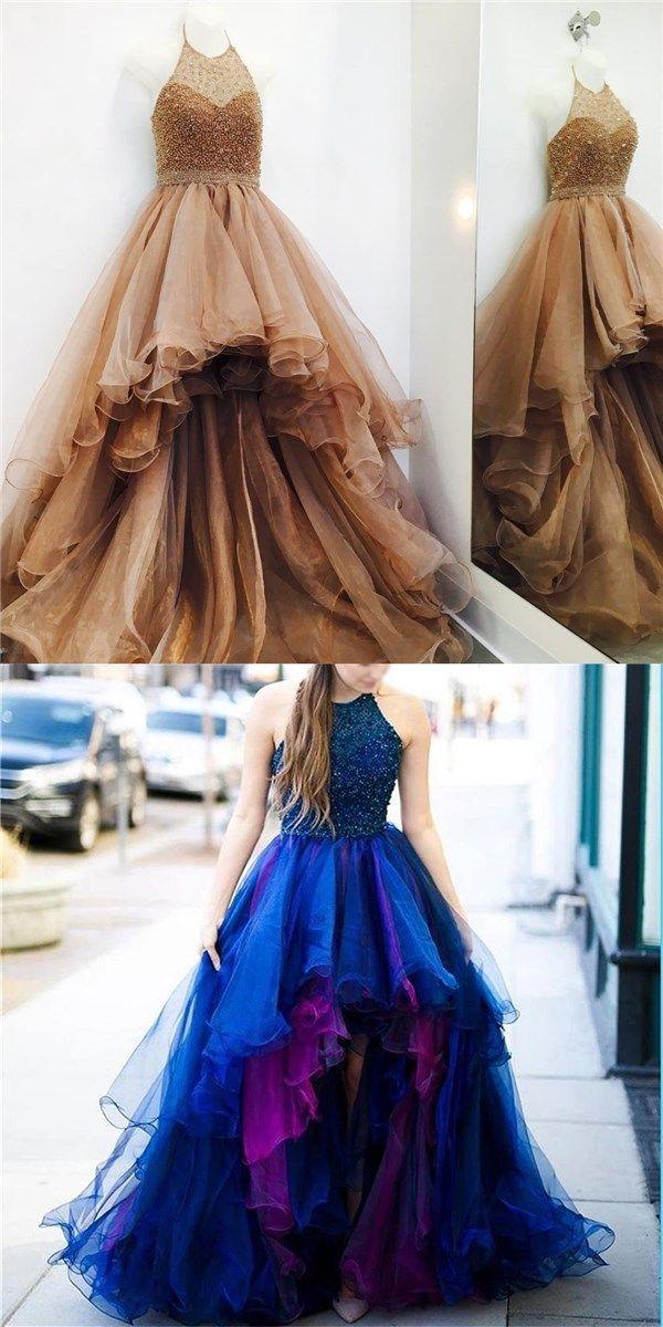 2019 High Low Unique Design Modern Prom Dresses f5498fc78cdf