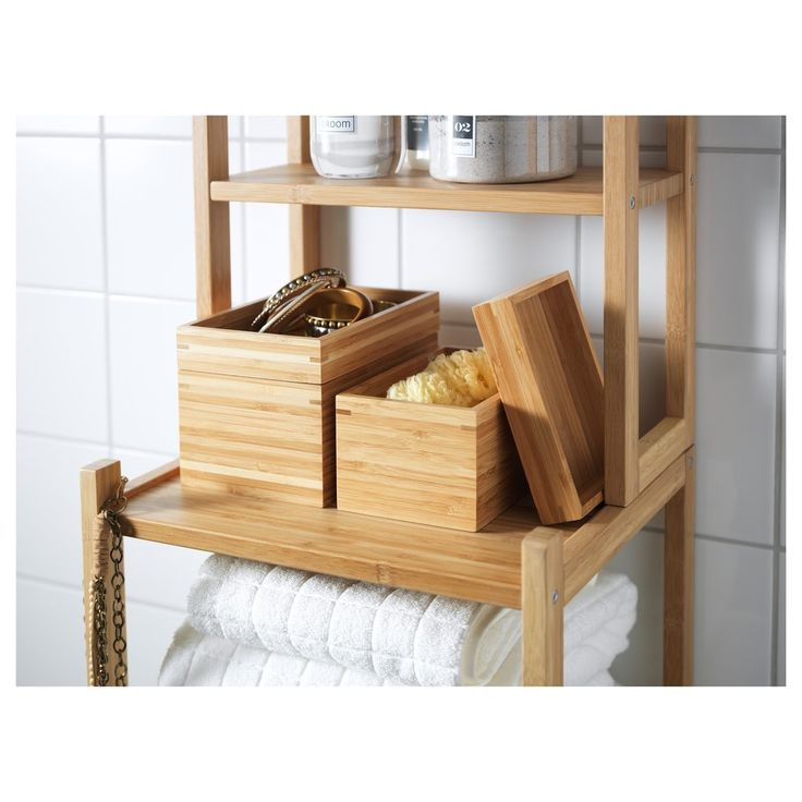 In the bath, office, kitchen . . . use the lids to keep the content of these bamboo boxes ($13 for two)  hidden, or turn over and repurpose as mini-trays.