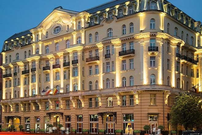 Polonia Palace--only hotel in Warsaw to survive WWII.